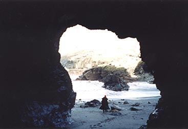Merlin's cave, Tintagel.